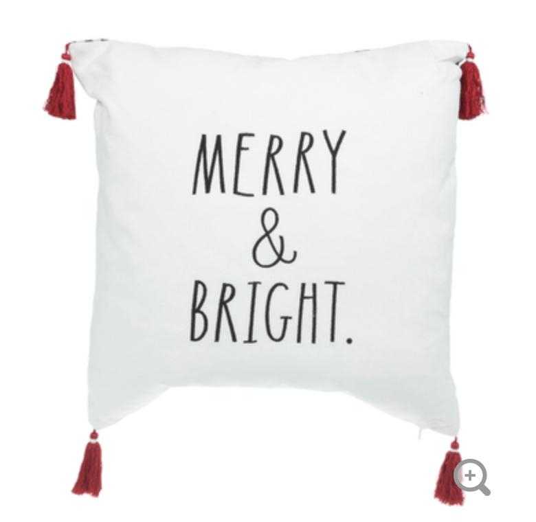 Merry & Bright Rae Dunn Christmas Pillows