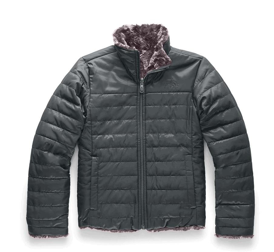 North Face Reversible girls jacket in grey