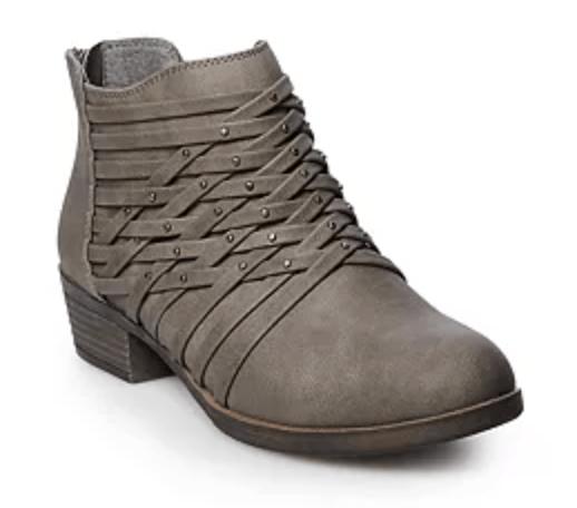 Kohls Grey booties