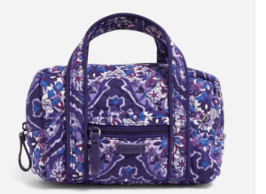 Vera Bradley purple travel case