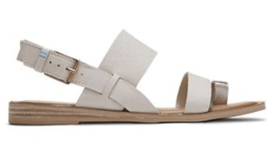 Toms White Leather Sandals