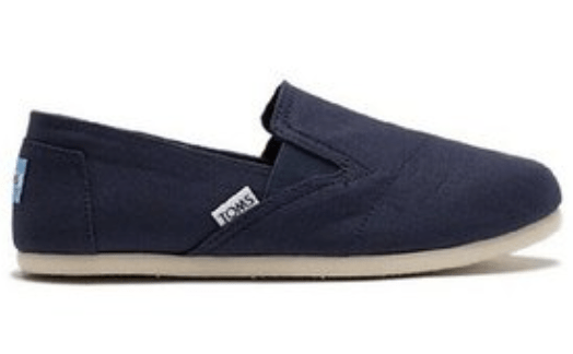 TOMS navy canvas sneakers