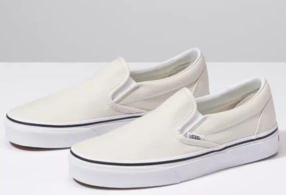 White Vans Slip On Style