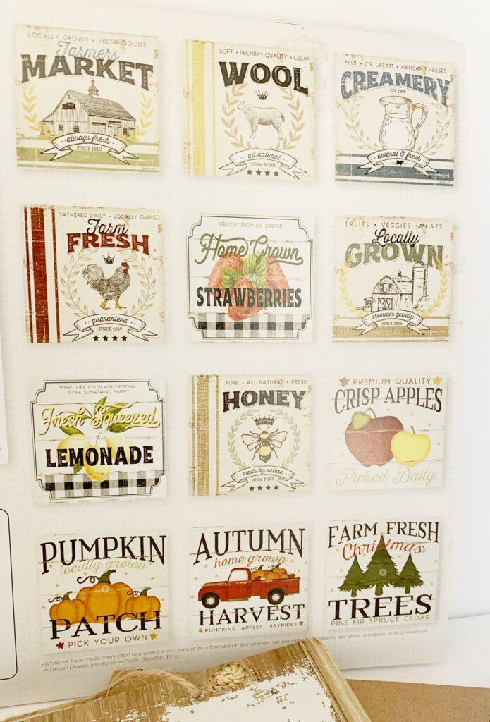 Custom Fall Signs From Dollar Tree Calendars