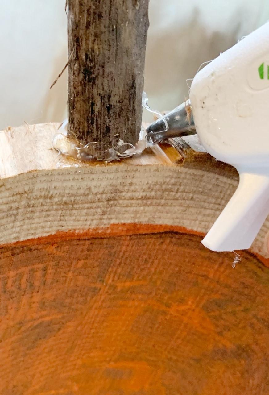 Stems for wood pumpkins