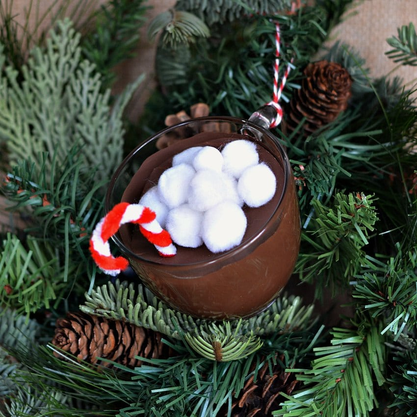 mini hot chocolate cup ornaments