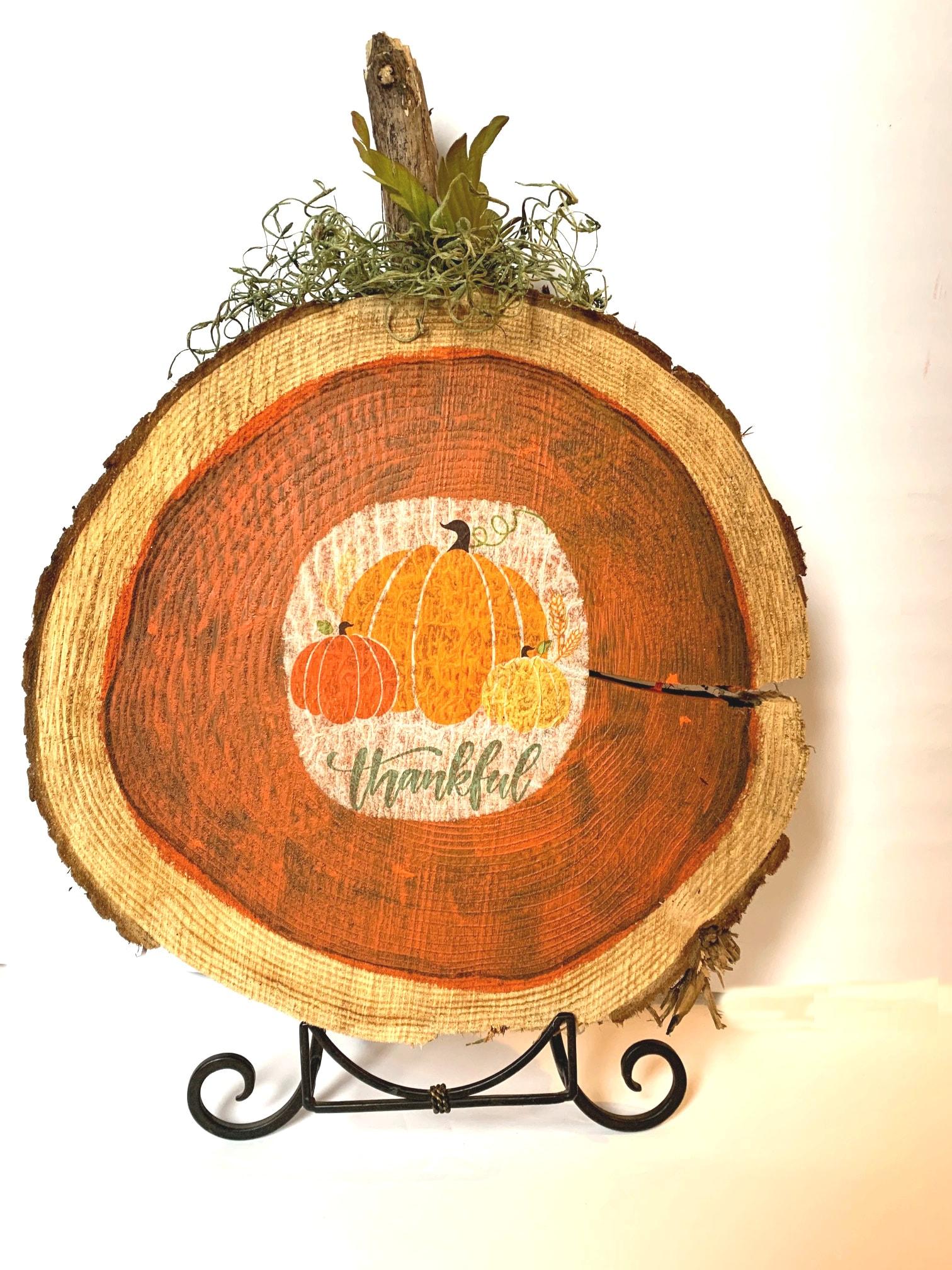 Displaying Wood Pumpkins