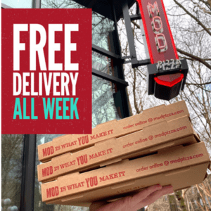 Mod PIzza Free Delivery