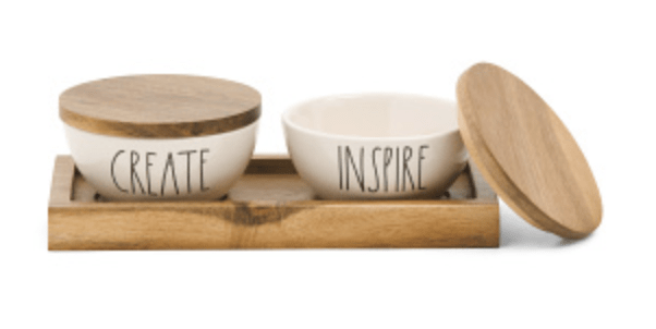 Rae Dunn Create & Inspire Bowl & Tray