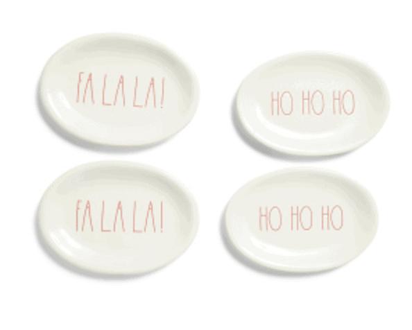 Rae Dunn Christmas Plates