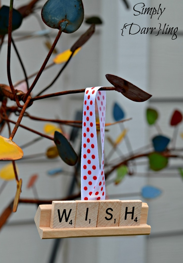 Scrabble Tile Christmas Ornament