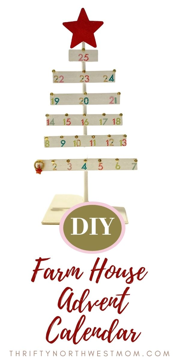 Farmhouse Decor DIY Advent Calendar