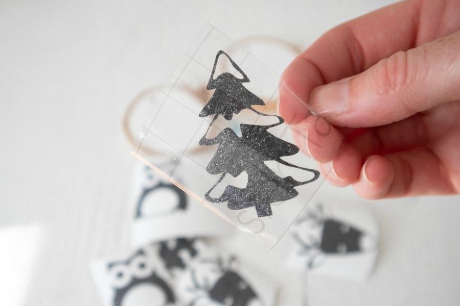 Peeling Transfer Tape for Wood Ornaments