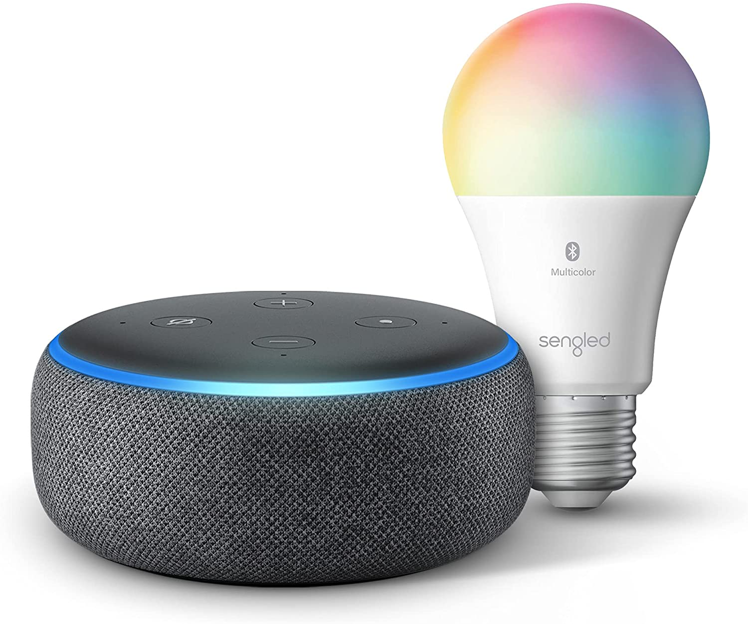 echo dot on sale with free bluetooth color smart bulb