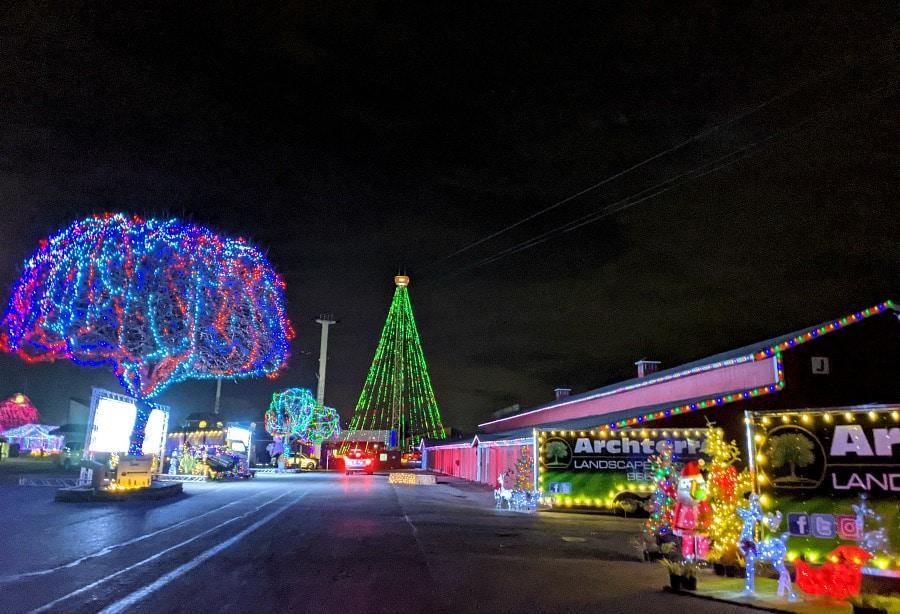 Christmas light display at Puyallup Fair
