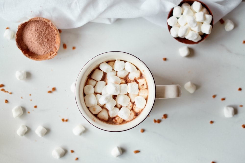 Hot Chocolate Bomb ready to drink