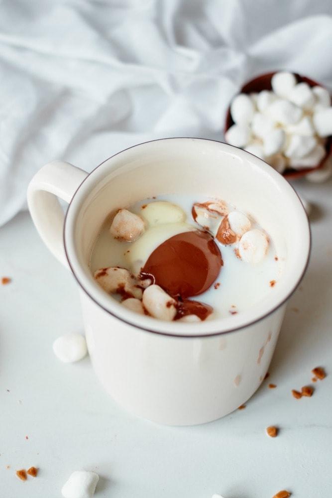 Melting Hot Chocolate Bomb with Marshmallows