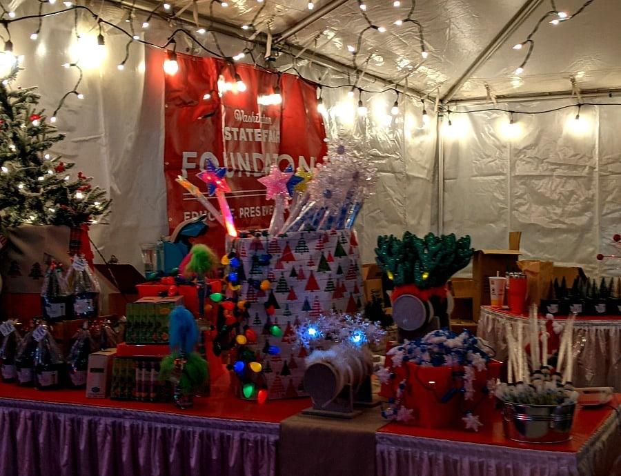 Merchandise at Holiday Magic Display