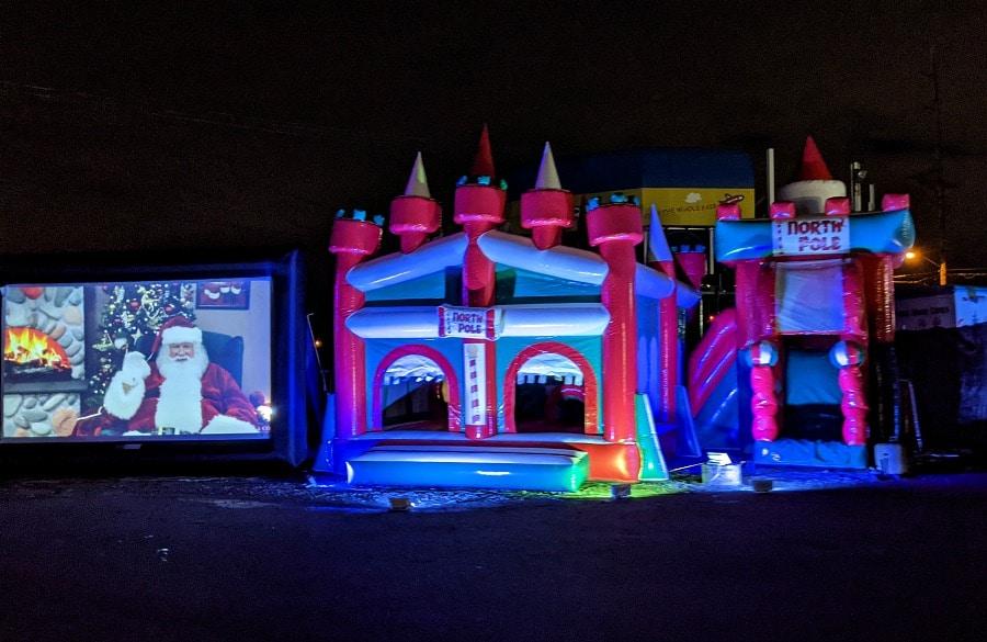 Santa & Blow Ups at Fair
