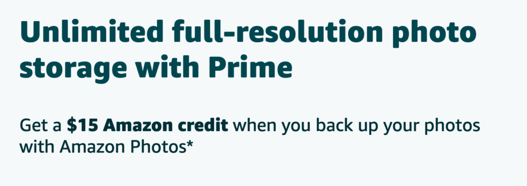 Amazon Photos – Free $15 Amazon Credit To Upload Photos