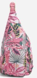 vera bradley sling backpack in pink tropical print