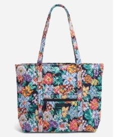 vera bradley tote bag in classic floral print