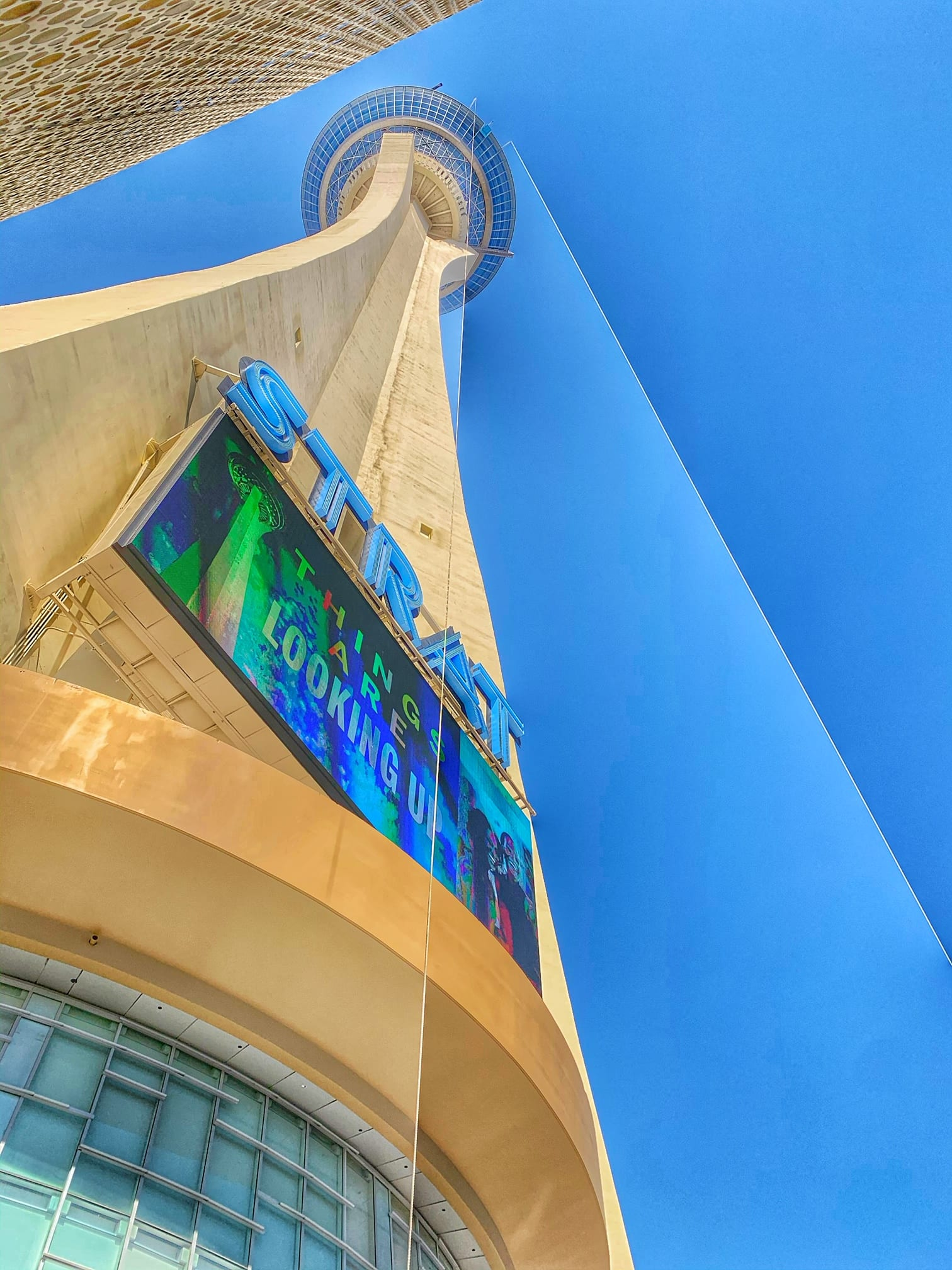 Sky diving at the Stratosphere las vegas