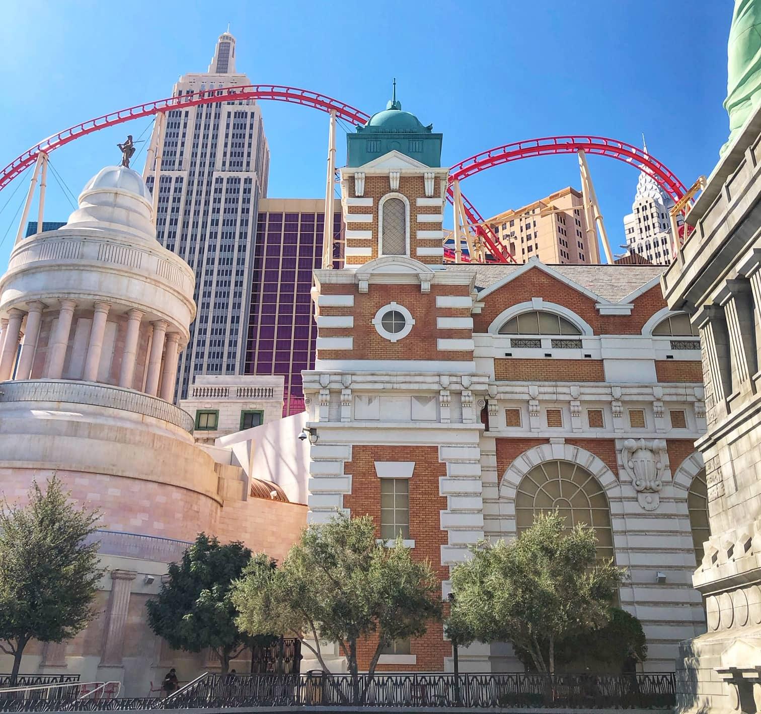 Roller coaster at New York New York Las Vegas