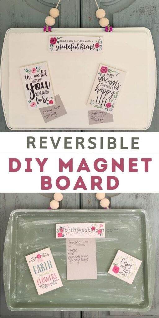 DIY Magnet Board Made From Dollar Store Cookie Sheet!