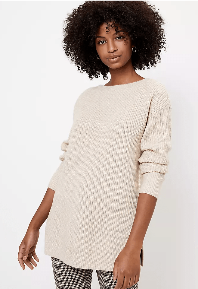 Ribbed Boatneck Sweater