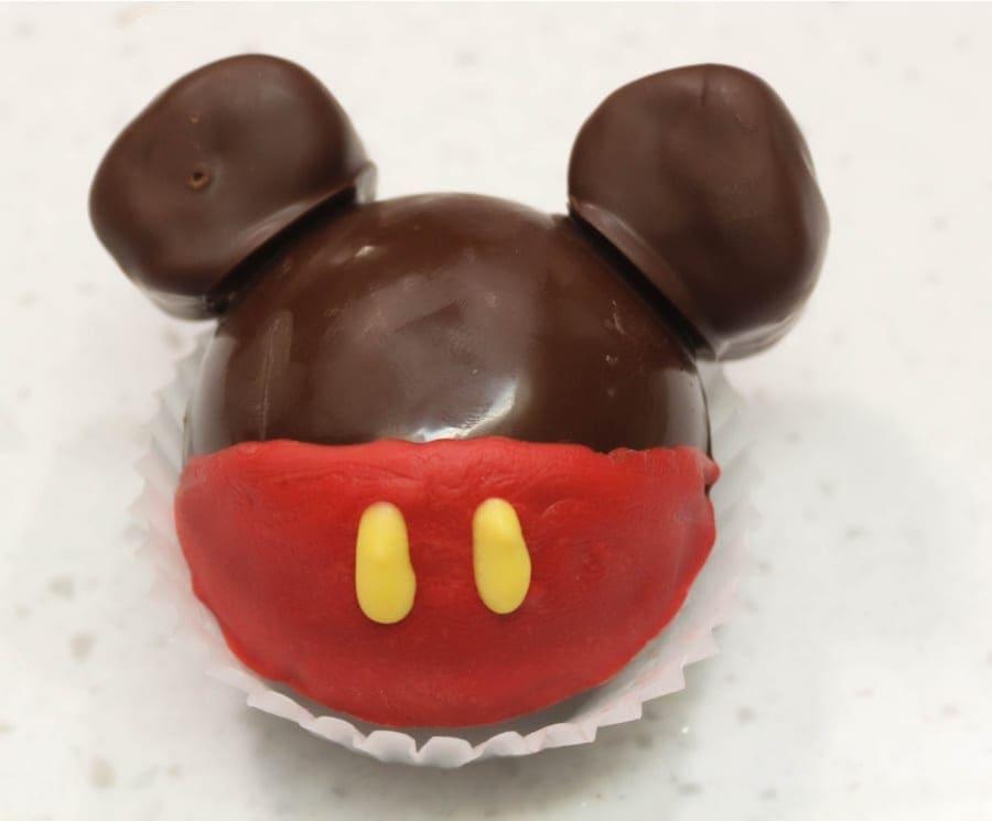 Adding Ears to mickey Hot Cocoa Bomb