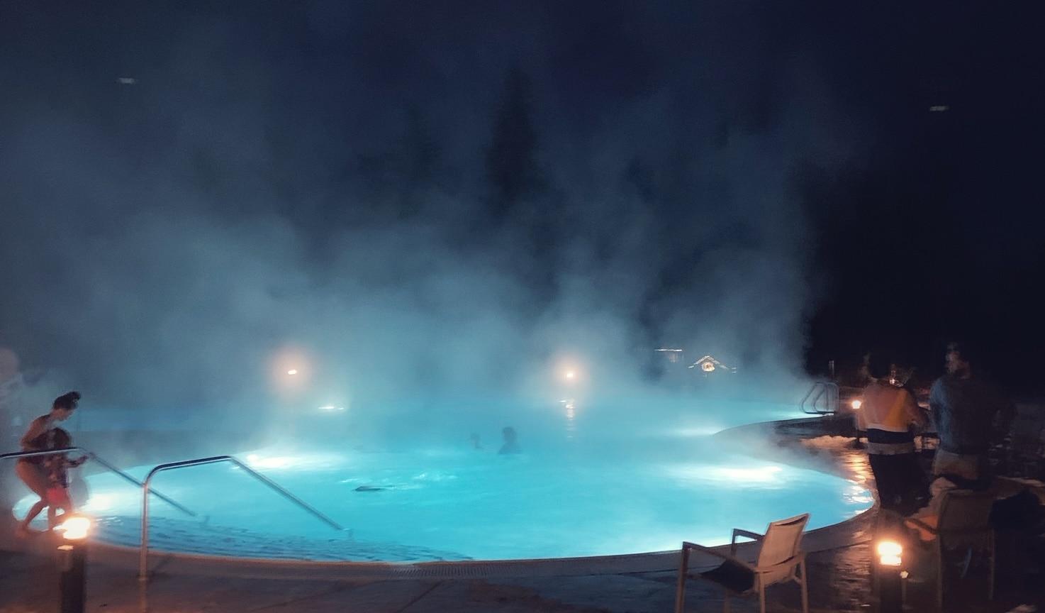 Outdoor swimming pool at Suncadia