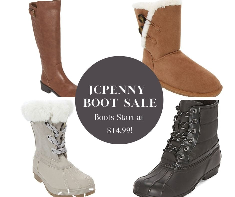 JCPenney Boots Sale – Boots As Low As $15 A Pair!