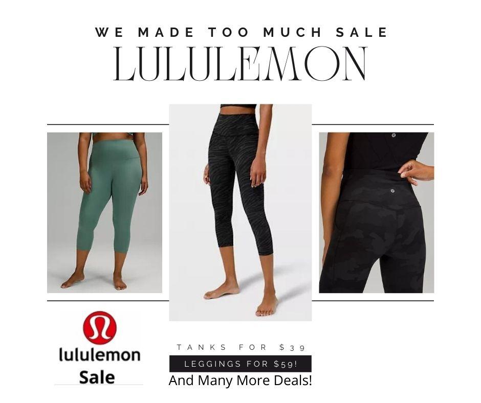 Lululemon sale we made too much