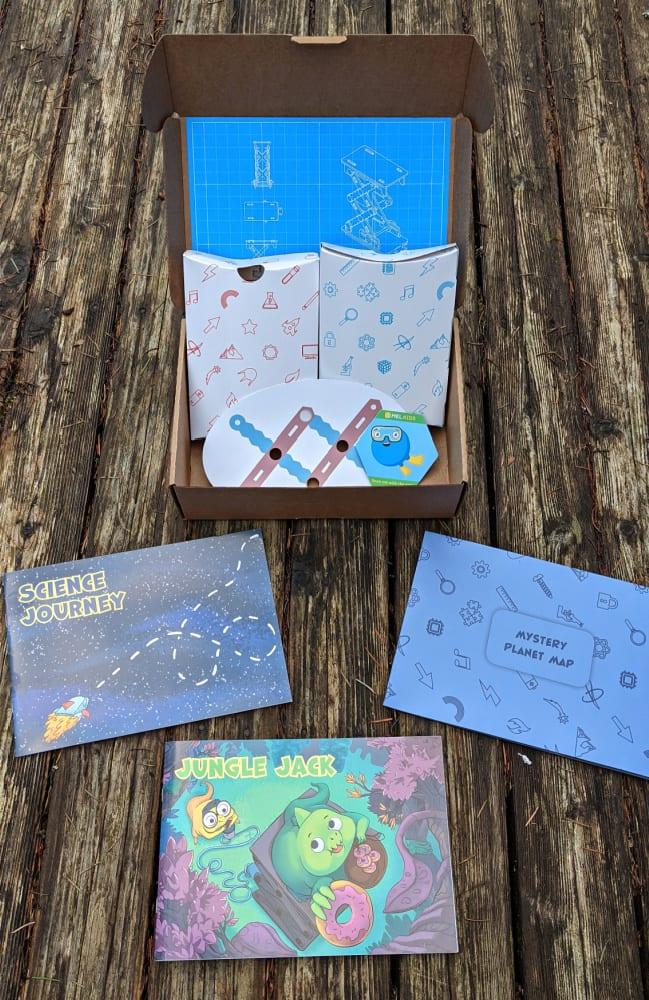 Mel Science Kit Items in Box