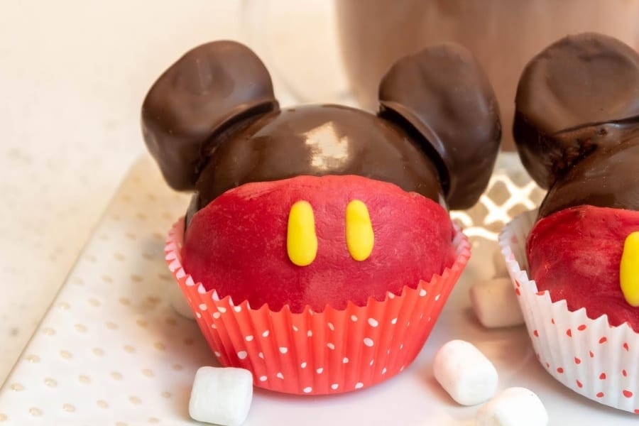 Mickey Hot Cocoa Bomb in Cupcake Liner