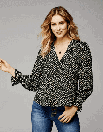 Wantable Floral Long Sleeve Top