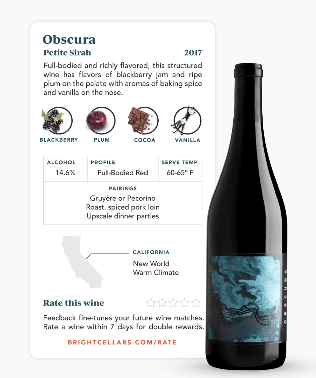 Bright Cellars Wine Information