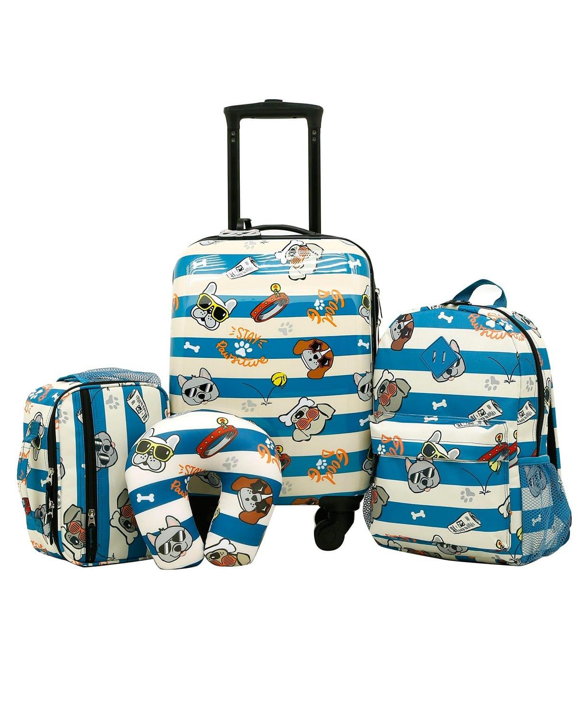 5 piece kids luggage set