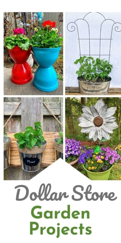 Beautiful Garden Projects Made With Supplies From The Dollar Store!