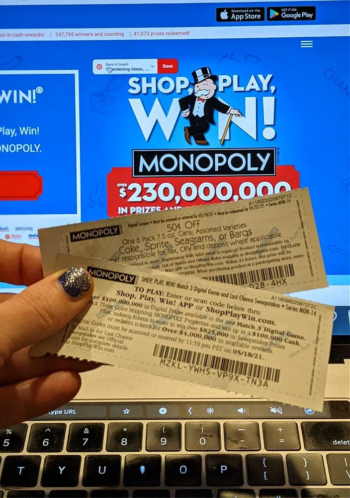 Safeway Albertsons Monopoly Game Tickets