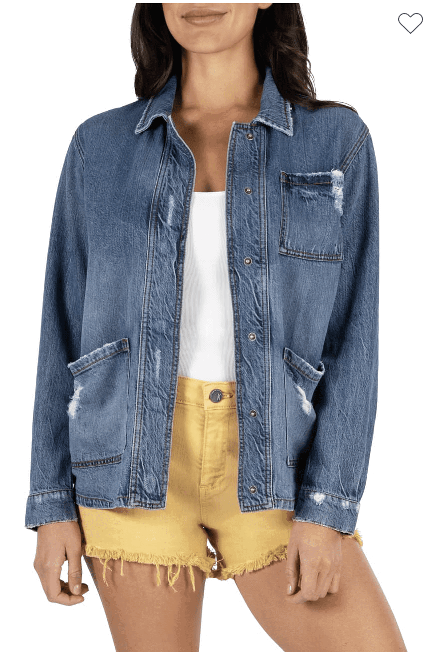 Kut from the kloth Denim Patch Jacket