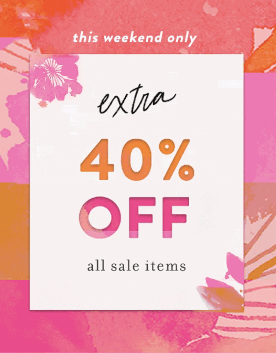 Anthropologie Sale – Extra 40% off Sale Items!