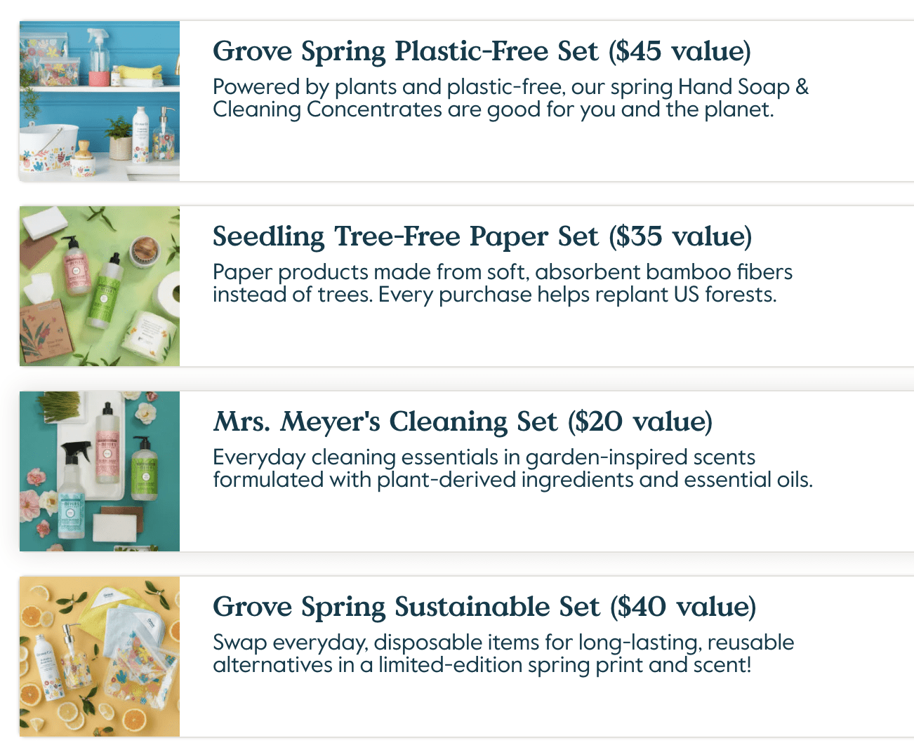 Grove Free Gifts