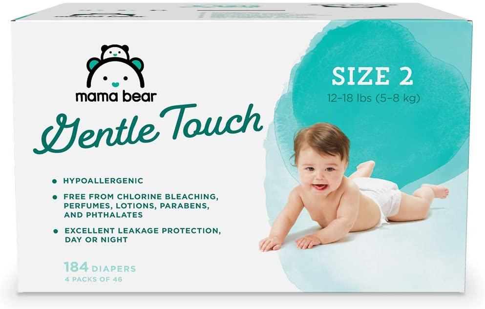 box of mama bear diapers