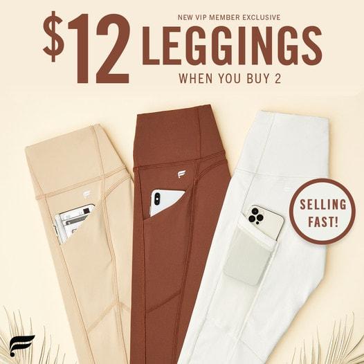 Fabletics Leggings – $12 Each +70% off Sale! Great Activewear