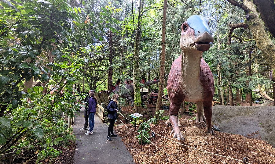 Dinosaur Discovery Exhibit with Pathway