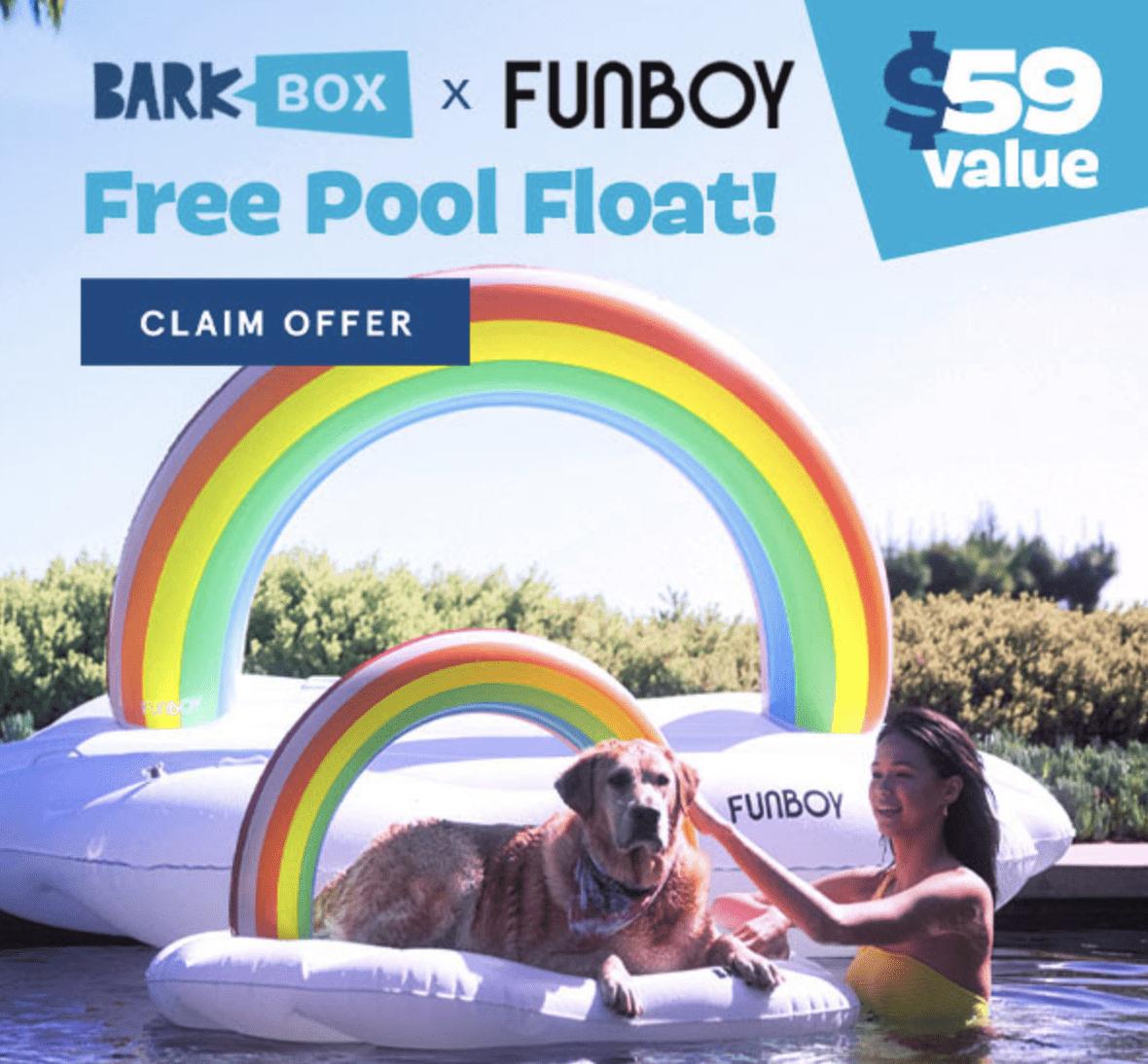 BarkBox Free Pool Float