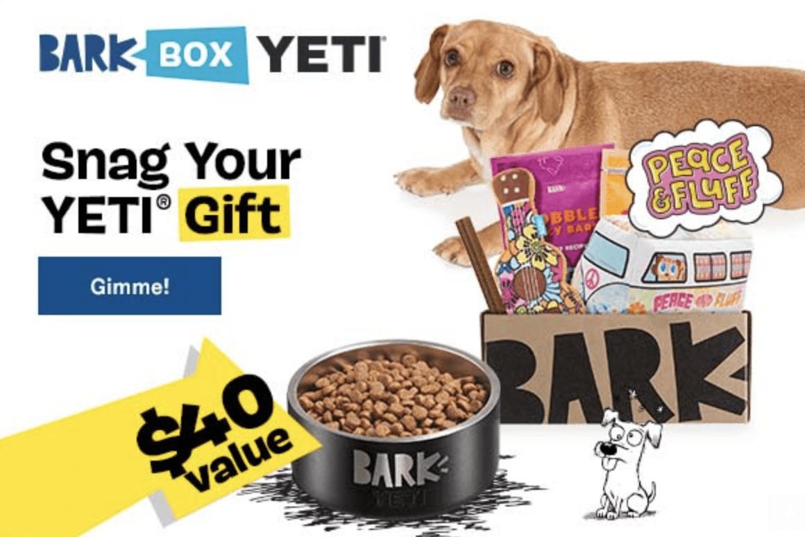 Free Yeti Bowl for BarkBox