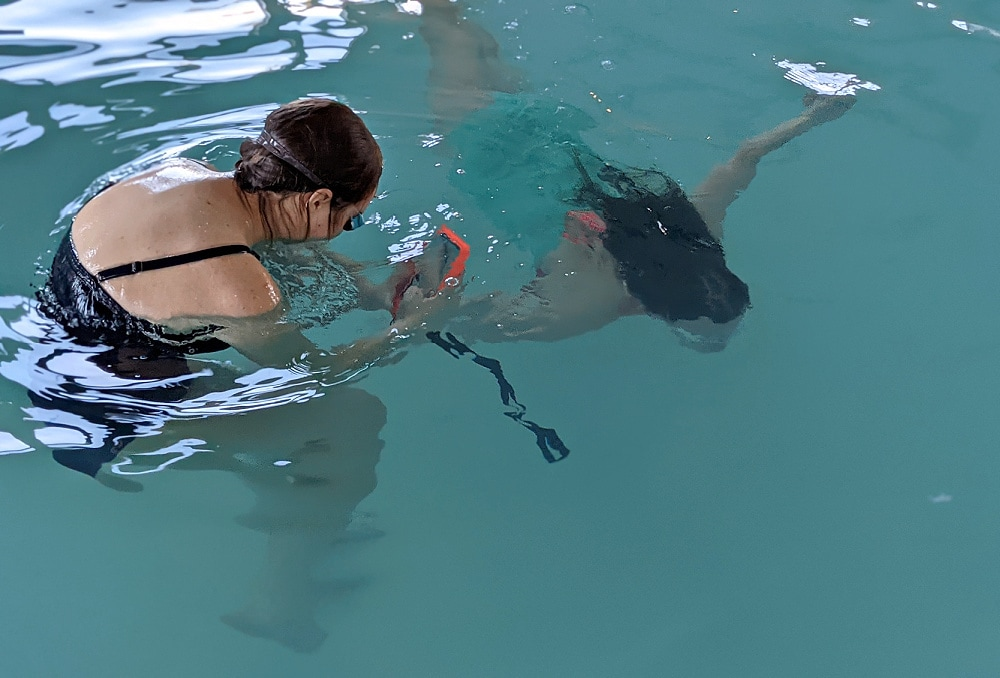 Taking photos underwater with CaliCase